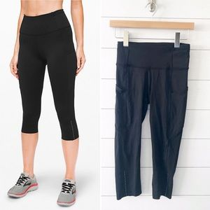 Lululemon || Fast and Free Crop II Nulux Black 4
